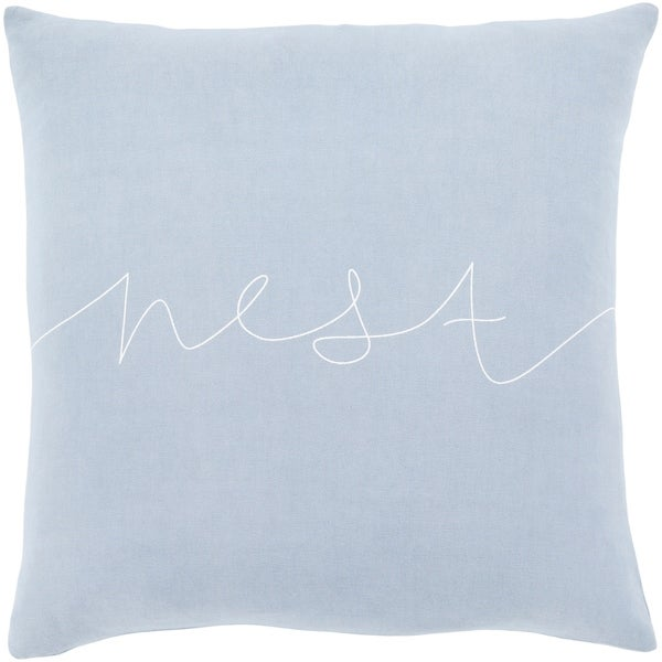 "Roost Denim Blue ""Nest"" Feather Down Throw Pillow (20"" x 20"")"