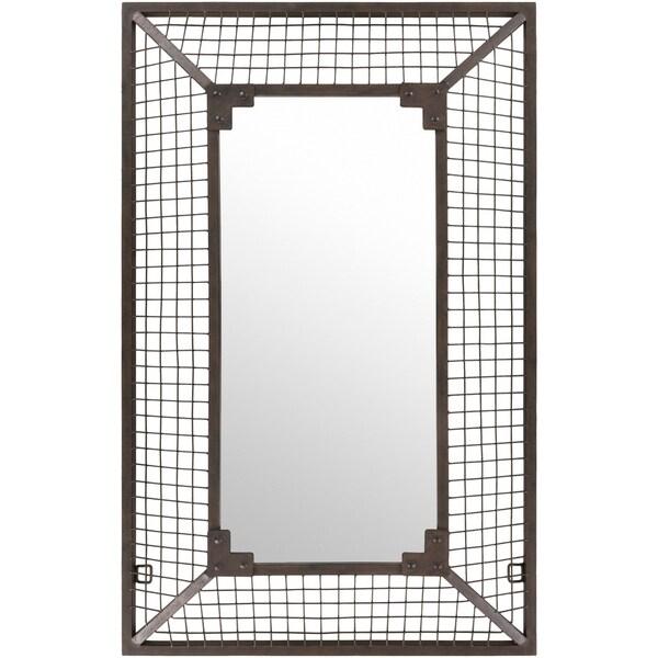 """Jaxson Weathered Wire Wall Mirror - Antique Bronze - 30"""" x 47.5"""""""