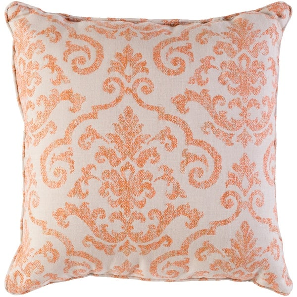 "Leia Orange Indoor/ Outdoor Throw Pillow (16"" x 16"")"