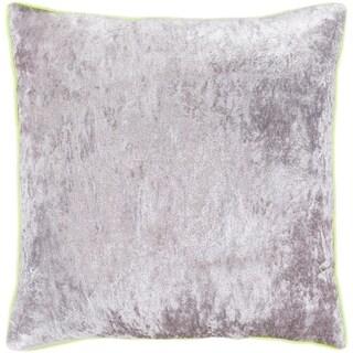 "Selena Yellow & Grey Crushed Velvet Throw Pillow Cover (22"" x 22"")"