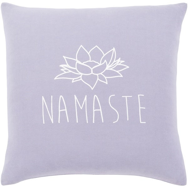 """Blessed Lavender """"Namaste"""" Poly Fill Throw Pillow (20"""" x 20"""")"""