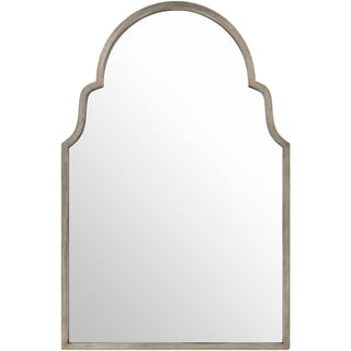 "Reyansh Antiqued Silver Arched Wall Mirror - 28.3"" x 43.3"""