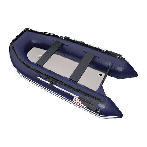 ALEKO Inflatable Fishing Raft Blue Boat 10.5 Ft with Air Deck Floor