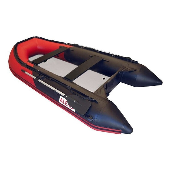 Shop ALEKO Inflatable Fishing Red/Black Boat 10 5 Ft with