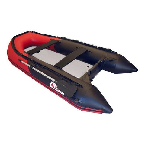 ALEKO Inflatable Fishing Red/Black Boat 10.5 Ft with Air Deck Floor