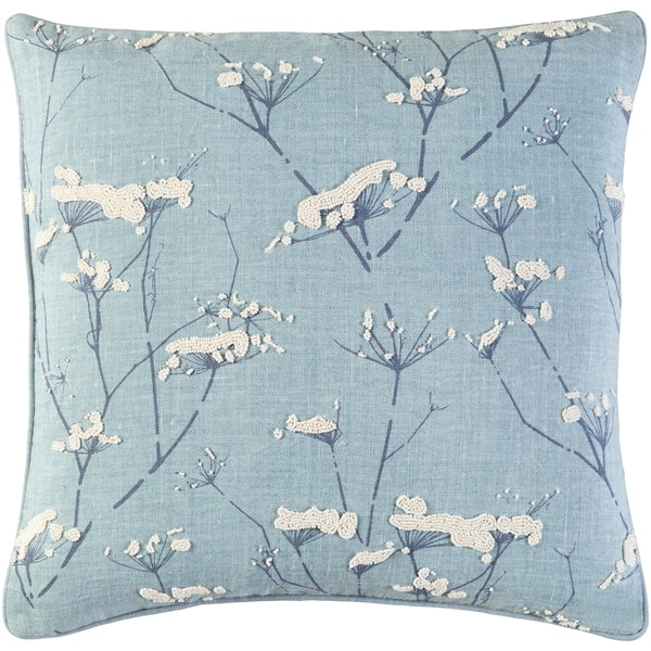 Decorative Pipa Slate Blue 22-inch Throw Pillow Cover