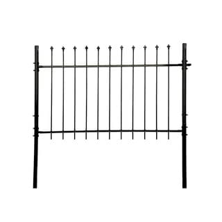 ALEKO ATHENS Style DIY Steel Fence Panel Kit 5 x 5 Feet