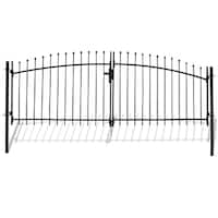 ALEKO ATHENS Style DIY Steel Dual Swing Driveway 11 x 5 ft Gate with Lock