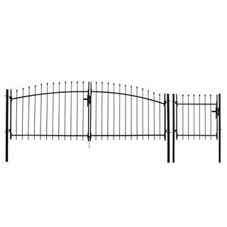 ALEKO ATHENS Style DIY Steel Driveway Gate 11 x 5 Feet with Pedestrian Gate