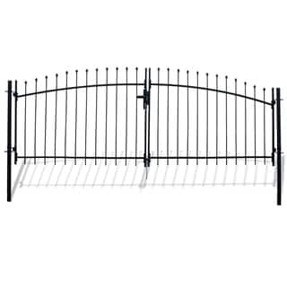 ALEKO ATHENS Style DIY Steel Dual Swing Driveway 13 x 5 ft Gate with Lock