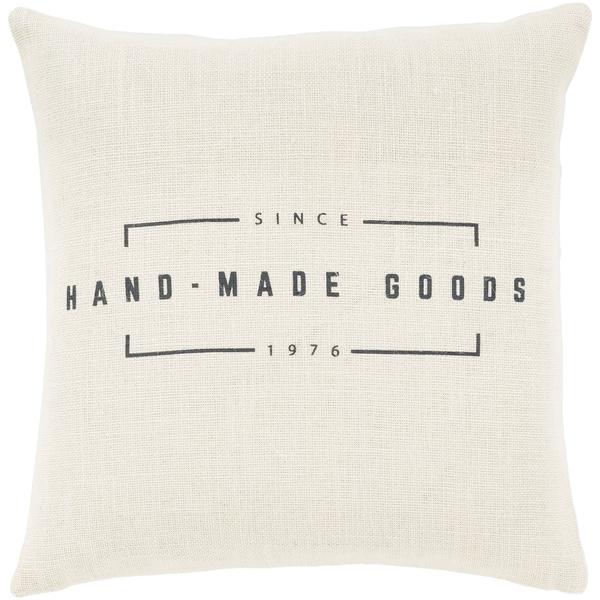"Karson Cream Modern Farmhouse Poly Fill Throw Pillow (20"" x 20"")"