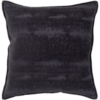 "Alsace Midnight Blue Solid Chenille Throw Pillow Cover (22"" x 22"")"