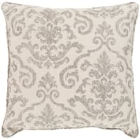 "Leia Taupe Indoor/ Outdoor Throw Pillow (16"" x 16"")"