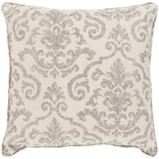 """Leia Taupe Indoor/ Outdoor Throw Pillow (20"""" x 20"""")"""