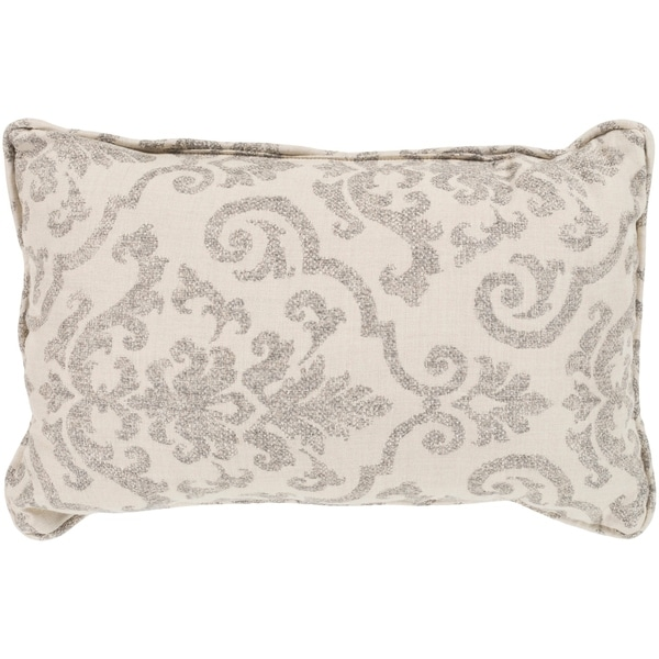 """Leia Taupe Indoor/ Outdoor Throw Pillow (13"""" x 19"""")"""