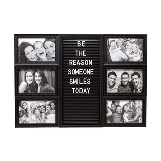 6 Opening Collage Photo Frame with Letterboard and 144 letters
