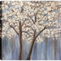 ArtMaison Canada 'White Poppy Trees II' Canvas Print Wall Art
