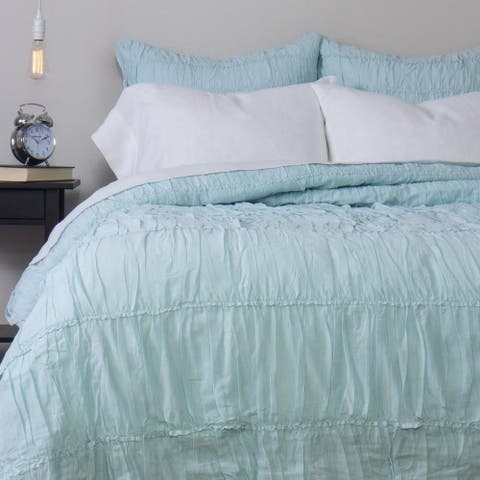 Cottage Home Rochelle Aqua Duvet Cover