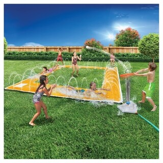 Banzai Home Run Splash Baseball (Racing Slide, Bat, Inflatable Home Plate, Sprinklers)