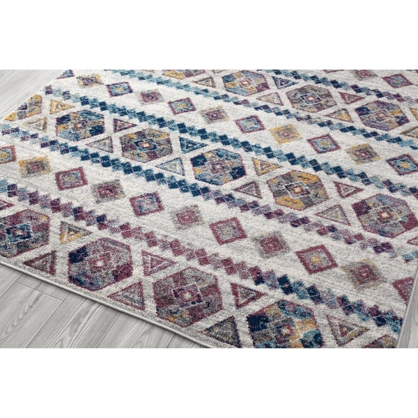 Shop Aurelia Boho Blue/ Pink Accent Rug