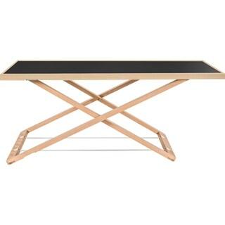 "Lorell Ultra-slim Desk Black Riser - 17"" H"