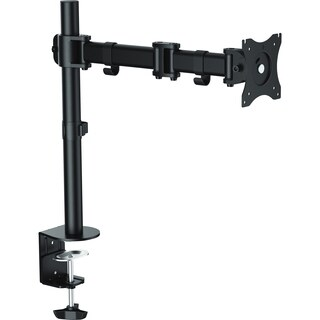 """Lorell Mounting Arm for Monitor - 32"""" Screen Support - Black"""