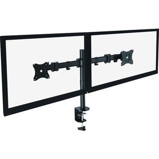 """Lorell Mounting Arm for Monitor - 27"""" Screen Support - Black"""