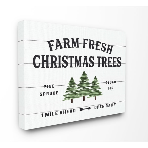 Farm Fresh Christmas Trees.The Stupell Home Decor Collection Holiday Farm Fresh Christmas Trees Spruce Canvas Wall Art 16 X 20 Proudly Made In Usa