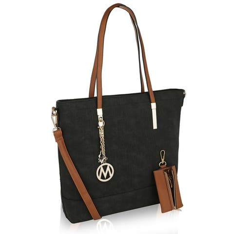 MKF Collection Franny Vintage Wash Tote Shoulder Bag by Mia K.
