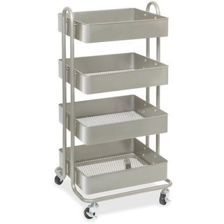 Lorell Storage Basket Silver Cart