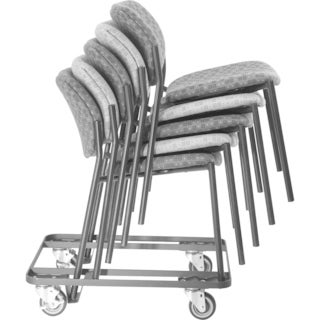 Lorell Stacking Black Dolly f/4-Leg Stack Chairs