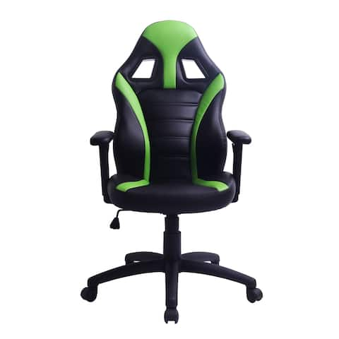 Adjustable Swivel Black/ Green Gaming Office Chair