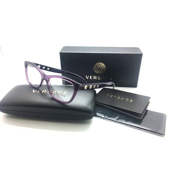 d64752c7170 VERSACE Light  amp  Dark Violet  amp  Gold VE MOD 3225 5029 52MM Eyeglasses