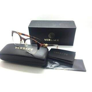Versace Havana/Crystals Round Eyeglasses MOD 3233-B 5217 49mm MIB