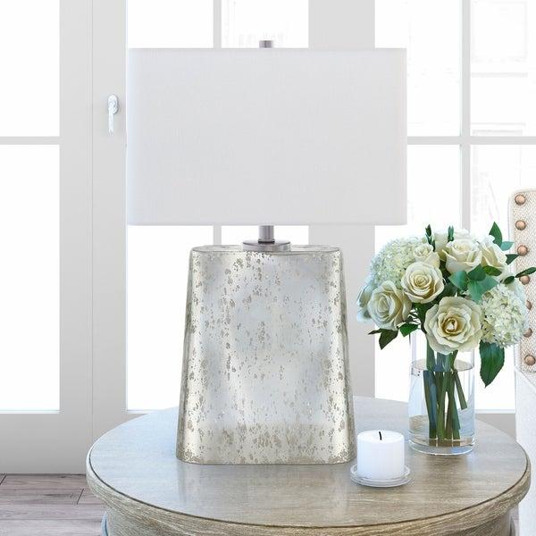 Shop Despina Table Lamp In Silver Mercury Glass Finish