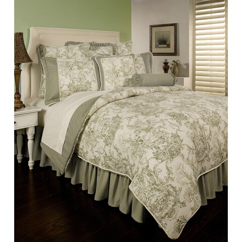 PCHF Country Toile Sage 3-piece Duvet Set