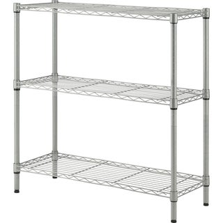 "Lorell Light-Duty 3 Tier Wire Shelving - 36"" H x 36"" W x 14"" D"