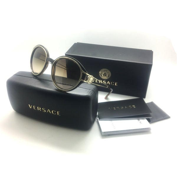 2f50ff1ffcc Shop Versace Gold Medusa Tortoise Round Sunglasses - Free Shipping Today -  Overstock - 23145440