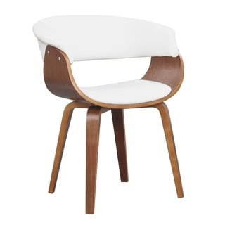 Carson Carrington Qaanaaq 18-inch Wood and Faux Leather Seat-height Dining Chair