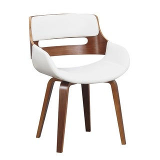 Wood and Faux Leather Mid-Century 18-Inch Dining Chair
