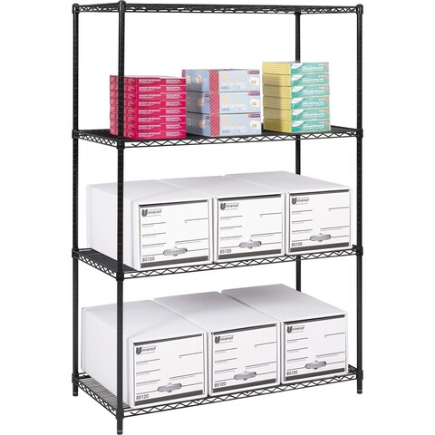 "Safco Industrial Wire Steel Shelving - 48"" x 24"" x 72"""