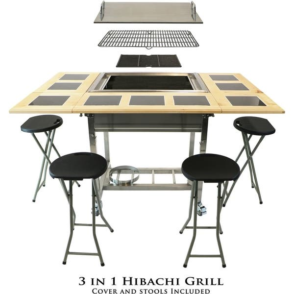 Shop 3 In 1 Sit Around Outdoor Teppanyaki Grill And Stove