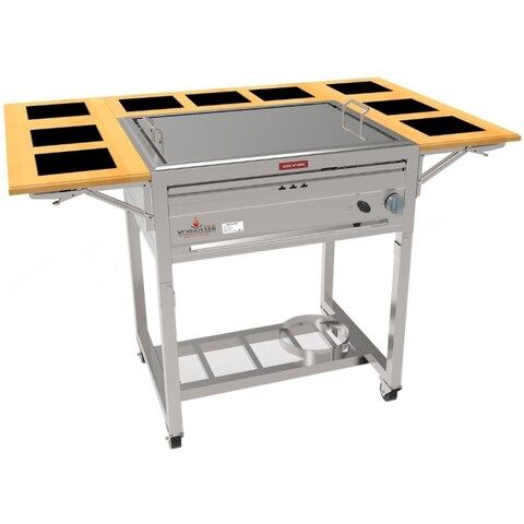 3-in-1 Sit Around Outdoor Teppanyaki, Grill and Stove Top