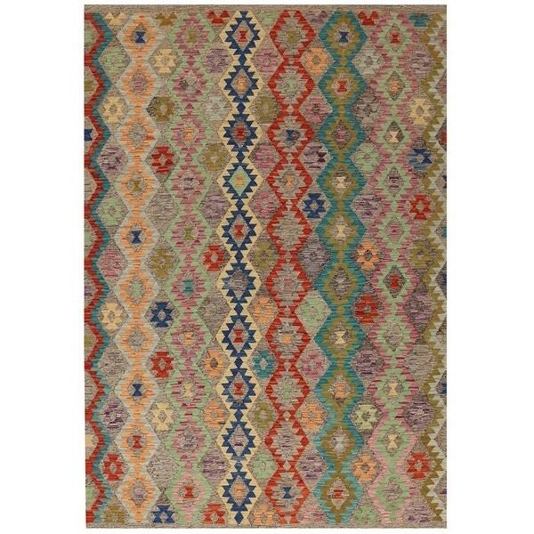 Handmade One-of-a-Kind Vegetable Dye Kilim Wool Rug (Afghanistan) - 6'6 x 9'9