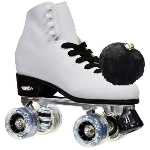 Pink /& Yellow Epic Splash High-Top Indoor Womens Outdoor Quad Roller Skates w// 2 pr of Laces