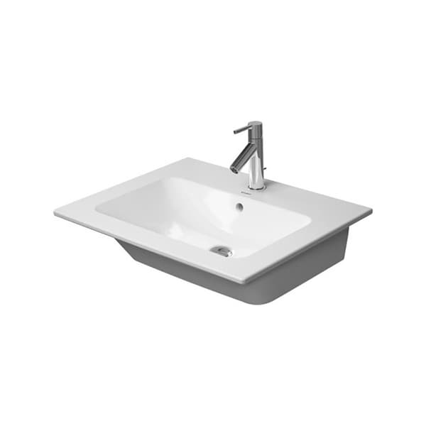Duravit Me by Starck 1 Faucet Hole Furniture Washbasin White