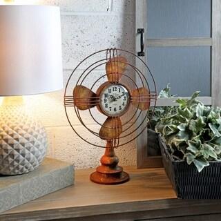 """Metal Table Fan Clock 18"""""""