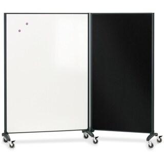 Quartet Motion Room Divider, 3' x 6', DuraMax Porcelain Whiteboard