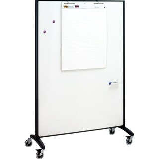 Quartet Motion Room Divider, 4' x 6', DuraMax Porcelain Whiteboard