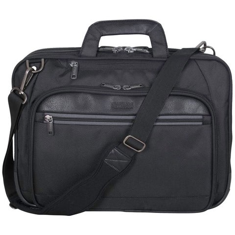 Kenneth Cole Reaction ProTec 1680D Polyester Dual Compartment TSA Checkpoint Friendly 15.6in Laptop Business Case